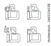 people with drinks  beverage...   Shutterstock .eps vector #1661216158