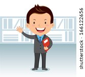 business man with success report   Shutterstock .eps vector #166122656