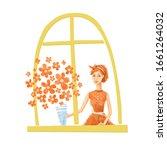 cute illustration for women's... | Shutterstock . vector #1661264032