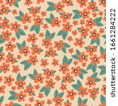 floral seamless pattern with... | Shutterstock .eps vector #1661284222