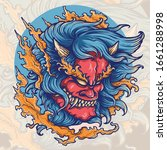 Vector Illustration Of Hannya...