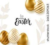 vector easter banner. realistic ... | Shutterstock .eps vector #1661309365