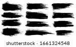 vector set of grunge artistic...   Shutterstock .eps vector #1661324548