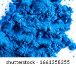 closeup view of blue pigment.... | Shutterstock . vector #1661358355
