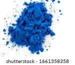 closeup view of blue pigment.... | Shutterstock . vector #1661358358