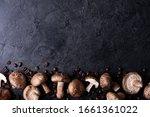 shiitake mushrooms with coffee... | Shutterstock . vector #1661361022