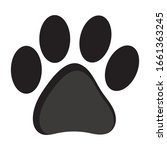 cat or dog paw print icon | Shutterstock .eps vector #1661363245