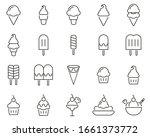 ice cream icons black   white... | Shutterstock .eps vector #1661373772