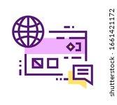 internet branding color line...