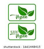 vegan icon set on white... | Shutterstock .eps vector #1661448415