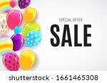 abstract party sale background. ... | Shutterstock . vector #1661465308