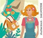 summer card. recreation and... | Shutterstock .eps vector #1661493508