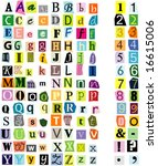 alphabet and numbers | Shutterstock .eps vector #16615006
