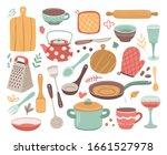 kitchen tools. kitchenware ...   Shutterstock .eps vector #1661527978