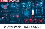 hud visualization coronavirus...   Shutterstock .eps vector #1661553328