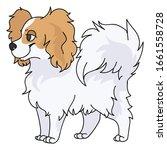 cute cartoon papillon dog breed ...   Shutterstock .eps vector #1661558728