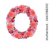 vector floral letter  capital...   Shutterstock .eps vector #1661588242