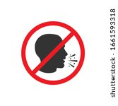 no cough icon in a flat design. ... | Shutterstock .eps vector #1661593318