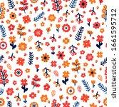 trendy seamless floral pattern. ...   Shutterstock .eps vector #1661595712