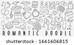 romantic doodle line art...   Shutterstock .eps vector #1661606815