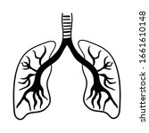human lungs icon isolated...   Shutterstock .eps vector #1661610148