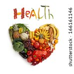 healthy food choice   healthy... | Shutterstock . vector #166161146