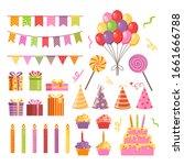 happy birthday party icon...   Shutterstock .eps vector #1661666788