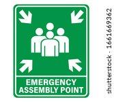 fire assembly point vector... | Shutterstock .eps vector #1661669362