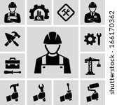 construction worker | Shutterstock .eps vector #166170362