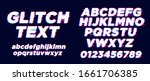 modern glitch text style effect ... | Shutterstock .eps vector #1661706385