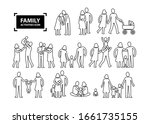 family activities icon line... | Shutterstock . vector #1661735155