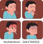 illustration of common symptoms ... | Shutterstock .eps vector #1661760322