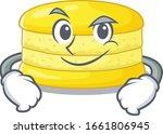 cool lemon macaron mascot... | Shutterstock .eps vector #1661806945