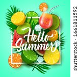 hello summer vector design with ... | Shutterstock .eps vector #1661811592