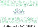 zero waste web banner with... | Shutterstock .eps vector #1661832055
