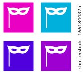 carnival mask icon . simple...