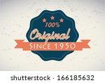 premium quality over pattern... | Shutterstock .eps vector #166185632