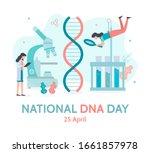 national dna day poster. dna... | Shutterstock .eps vector #1661857978