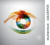 abstract eye background | Shutterstock .eps vector #166185935