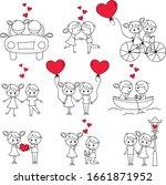 couple stick figure for... | Shutterstock .eps vector #1661871952