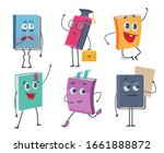 books characters. cartoon funny ... | Shutterstock .eps vector #1661888872