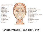 acupuncture points on the face. ... | Shutterstock .eps vector #1661898145