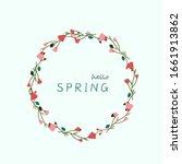 hello spring lettering spring... | Shutterstock .eps vector #1661913862