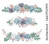 vector drawing flowers and...   Shutterstock .eps vector #1661952595