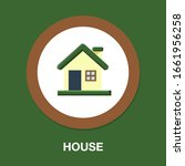 home icon  vector real estate... | Shutterstock .eps vector #1661956258