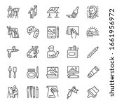 painting  icon set. drawing.... | Shutterstock .eps vector #1661956972