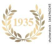 Year 1935 Gold Laurel Wreath...