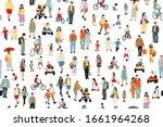 many  people vector... | Shutterstock .eps vector #1661964268