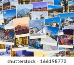 stack of mountains ski austria... | Shutterstock . vector #166198772