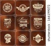 set of coffee shop sketch... | Shutterstock .eps vector #166199072